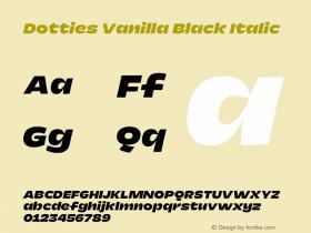 Dotties Vanilla Black Italic Version 1.000;Dotties Chocolate图片样张