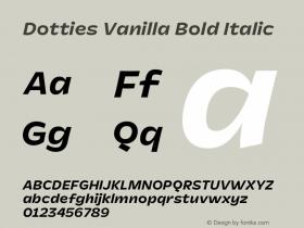 Dotties Vanilla Bold Italic Version 1.000;Dotties Chocolate图片样张