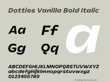 Dotties Vanilla Bold Italic Version 1.000;Dotties Chocolate图片样张