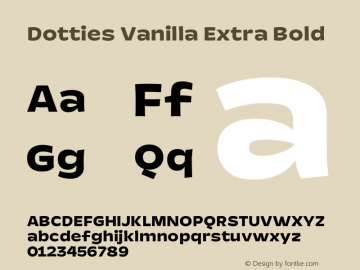 Dotties Vanilla Extra Bold Version 1.000;Dotties Chocolate图片样张