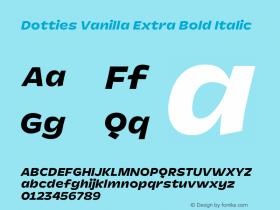 Dotties Extra Bold Italic Version 1.000;Dotties Chocolate图片样张