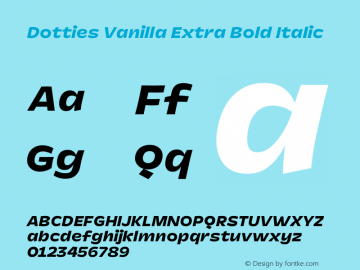 Dotties Extra Bold Italic Version 1.000;Dotties Chocolate图片样张