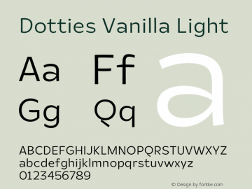Dotties Vanilla Light Version 1.000;Dotties Chocolate图片样张