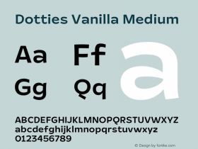 Dotties Vanilla Medium Version 1.000;Dotties Chocolate图片样张
