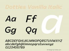 Dotties Vanilla Regular Italic Version 1.000;Dotties Chocolate图片样张