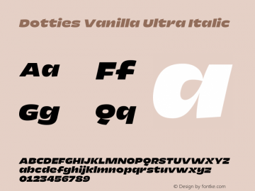 Dotties Vanilla Ultra Italic Version 1.000;Dotties Chocolate图片样张