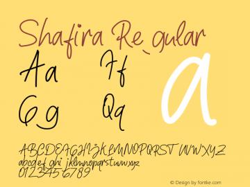 Shafira Version 1.00;November 28, 2019;FontCreator 12.0.0.2547 64-bit图片样张
