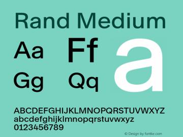 Rand-Medium Version 1.001图片样张