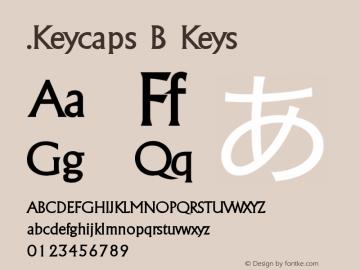 .Keycaps B Keys 10.5d29e15 Font Sample