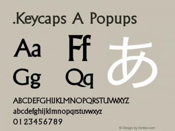 .Keycaps A Popups 10.5d29e15 Font Sample