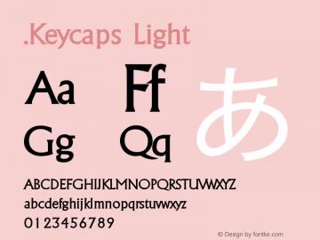 .Keycaps Light 10.5d29e15 Font Sample