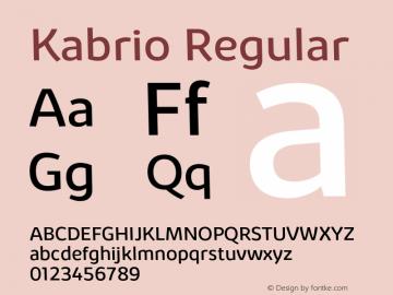 Kabrio Regular Version 1.000;hotconv 1.0.109;makeotfexe 2.5.65596图片样张