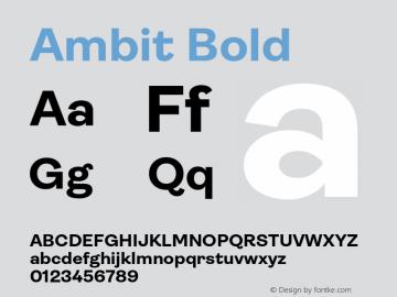 Ambit-Bold Version 1.020;hotconv 1.0.109;makeotfexe 2.5.65596图片样张