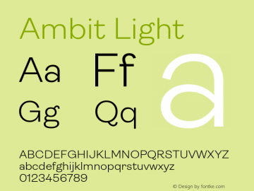 Ambit-Light Version 1.020;hotconv 1.0.109;makeotfexe 2.5.65596图片样张