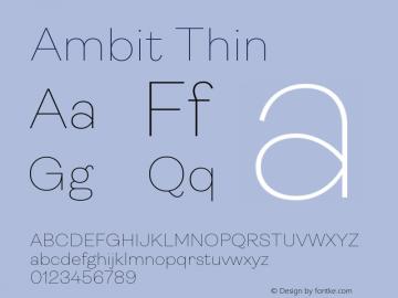 Ambit-Thin Version 1.020;hotconv 1.0.109;makeotfexe 2.5.65596图片样张