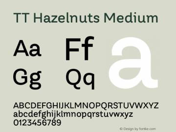 TTHazelnuts-Medium Version 1.000图片样张