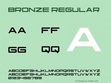 BronzeRegular Version 1.000图片样张