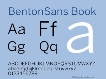 BentonSans-Book Version 001.000图片样张