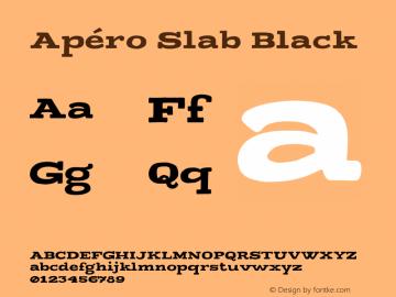 Apero Slab Black Version 1.000;PS 001.000;hotconv 1.0.88;makeotf.lib2.5.64775图片样张