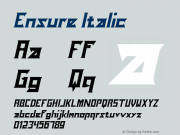 Ensure Italic Version 1.00;December 4, 2019;FontCreator 12.0.0.2525 64-bit图片样张