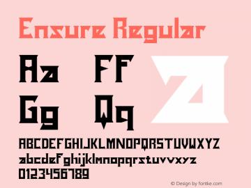 Ensure Version 1.00;December 4, 2019;FontCreator 12.0.0.2525 64-bit图片样张