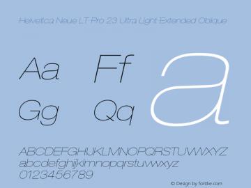 HelveticaNeueLTPro-UltLtExO Version 1.500;PS 001.005;hotconv 1.0.38图片样张