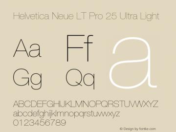 HelveticaNeueLTPro-UltLt Version 1.500;PS 001.005;hotconv 1.0.38图片样张