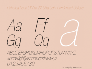 HelveticaNeueLTPro-UltLtCnO Version 1.500;PS 001.005;hotconv 1.0.38图片样张
