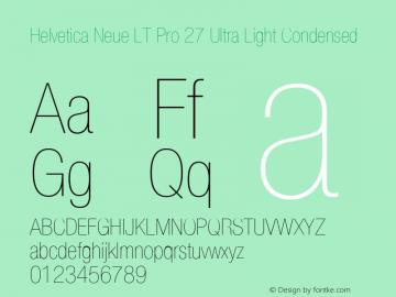 HelveticaNeueLTPro-UltLtCn Version 1.500;PS 001.005;hotconv 1.0.38图片样张