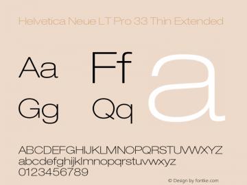 HelveticaNeueLTPro-ThEx Version 1.500;PS 001.005;hotconv 1.0.38图片样张