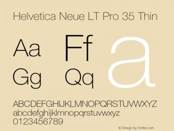 HelveticaNeueLTPro-Th Version 1.500;PS 001.005;hotconv 1.0.38图片样张