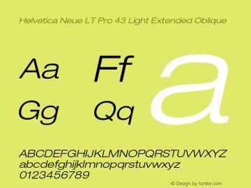 HelveticaNeueLTPro-LtExO Version 1.500;PS 001.005;hotconv 1.0.38图片样张