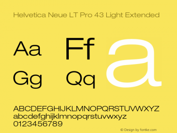 HelveticaNeueLTPro-LtEx Version 1.500;PS 001.005;hotconv 1.0.38图片样张