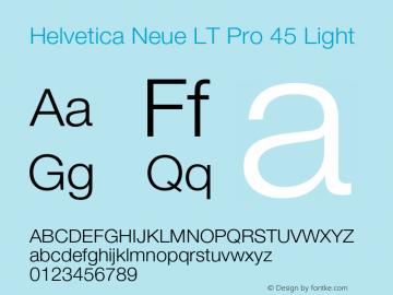 HelveticaNeueLTPro-Lt Version 1.500;PS 001.005;hotconv 1.0.38图片样张