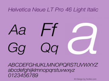HelveticaNeueLTPro-LtIt Version 1.500;PS 001.005;hotconv 1.0.38图片样张