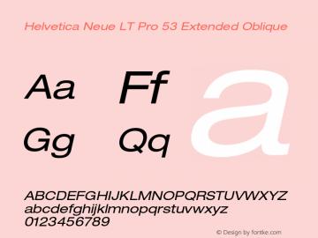 HelveticaNeueLTPro-ExO Version 1.500;PS 001.005;hotconv 1.0.38图片样张