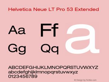 HelveticaNeueLTPro-Ex Version 1.500;PS 001.005;hotconv 1.0.38图片样张
