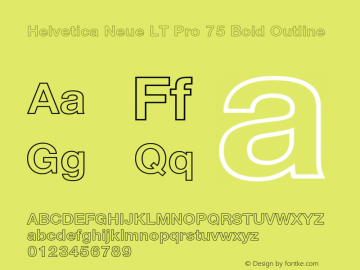 HelveticaNeueLTPro-BdOu Version 1.500;PS 001.005;hotconv 1.0.38图片样张