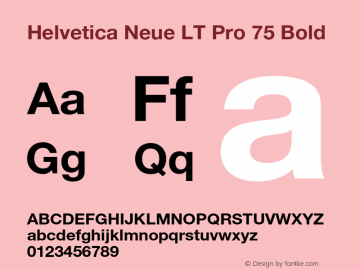 HelveticaNeueLTPro-Bd Version 1.500;PS 001.005;hotconv 1.0.38图片样张