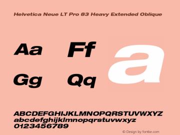HelveticaNeueLTPro-HvExO Version 1.500;PS 001.005;hotconv 1.0.38图片样张