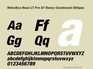 HelveticaNeueLTPro-HvCnO Version 1.500;PS 001.005;hotconv 1.0.38图片样张
