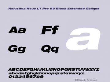 HelveticaNeueLTPro-BlkExO Version 1.500;PS 001.005;hotconv 1.0.38图片样张