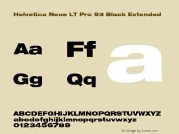 HelveticaNeueLTPro-BlkEx Version 1.500;PS 001.005;hotconv 1.0.38图片样张