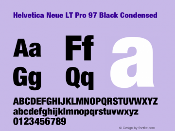 HelveticaNeueLTPro-BlkCn Version 1.500;PS 001.005;hotconv 1.0.38图片样张