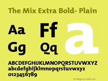 The Mix Extra Bold- Plain Version 1.0 Font Sample