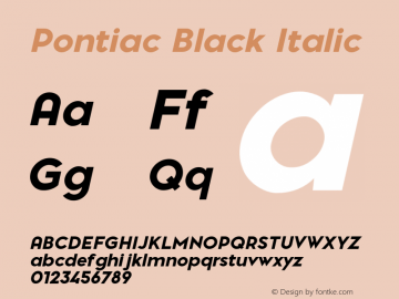 Pontiac-BlackItalic Version 1.00图片样张