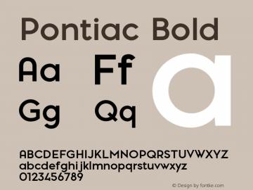 Pontiac-Bold Version 1.00图片样张