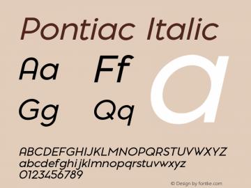 Pontiac-Italic Version 1.00图片样张