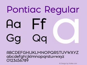 Pontiac-Regular Version 1.00图片样张