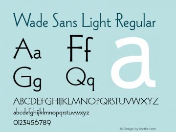 Wade Sans Light Plain Version 2.0; 1990; initial release图片样张